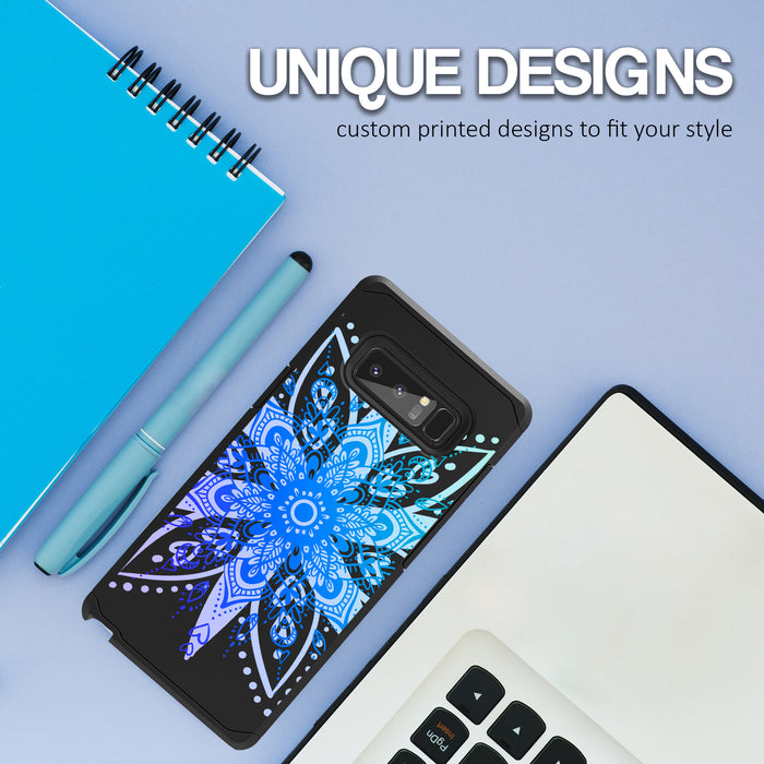 Samsung Galaxy Note 8 Case [Slim Shield][Heart Mandala]