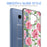 Samsung Galaxy S9 Case [Clear/ Gray Bumper][Pink Vine Flower]
