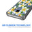 Samsung Galaxy S9 Case [Clear/ Gray Bumper][White Hawaiian Flowers]
