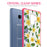 Samsung Galaxy S9 Case [Clear/ Pink Bumper][White Hawaiian Flowers]