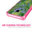 Samsung Galaxy S9 Case [Clear/ Pink Bumper][Green Leaves]
