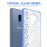 Samsung Galaxy S9 Plus Case [Clear/ Blue Bumper][White Mandalas]