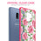 Samsung Galaxy S9 Plus Case [Clear/ Pink Bumper][Pink Vine Flower]