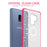 Samsung Galaxy S9 Plus Case [Clear/ Pink Bumper][Black Mandala]