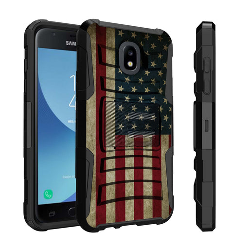 Samsung Galaxy J7 Case [Holster][USA Flag]