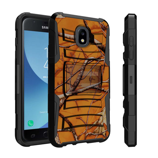 Samsung Galaxy J7 Case [Holster][Orange Tree Camo]