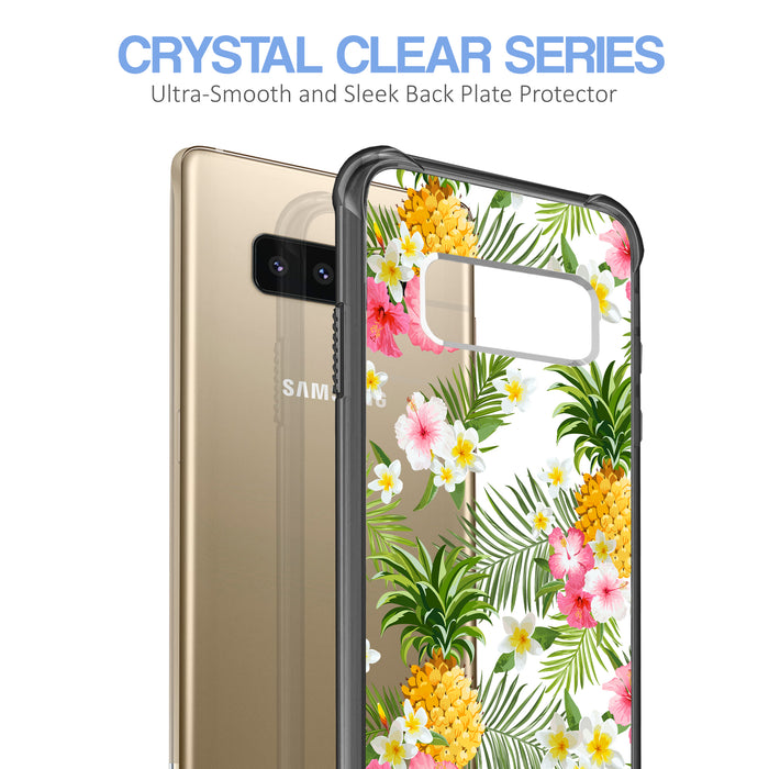 Samsung Galaxy Note 8 Case [Clear/ Gray Bumper][Tropical Pineapple]
