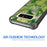 Samsung Galaxy Note 8 Case [Clear/ Gray Bumper][Green Leaves]