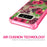 Samsung Galaxy Note 8 Case [Clear/ Pink Bumper][Tropical Night]