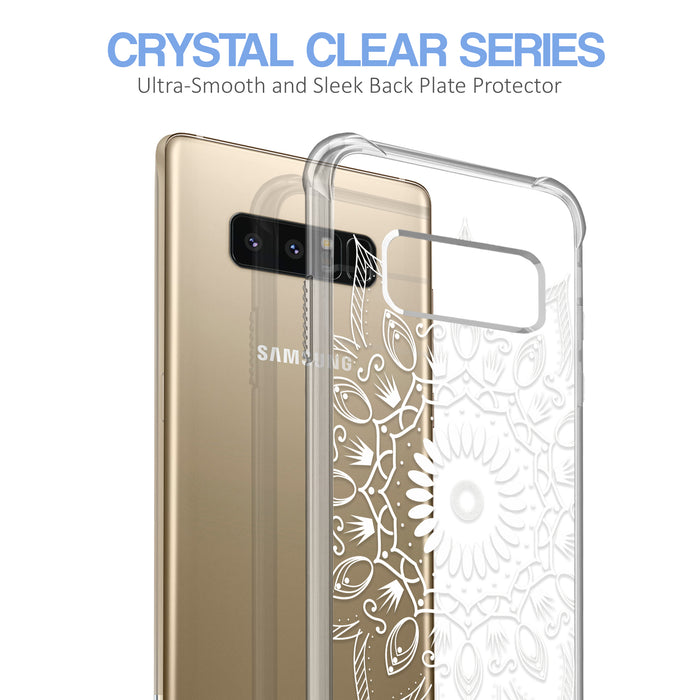 Samsung Galaxy Note 8 Case [Ultra Clear][Black Mandala]