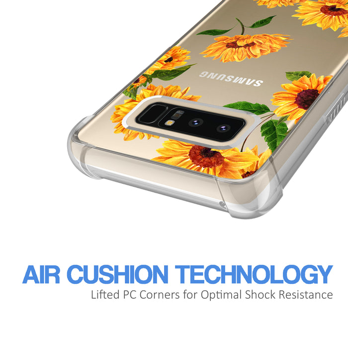 Samsung Galaxy Note 8 Case [Ultra Clear][Sunflower]