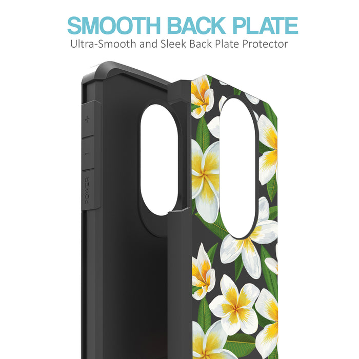 Motorola Moto E5 Plus  Case [Slim Shield][White Hawaiian Flowers]