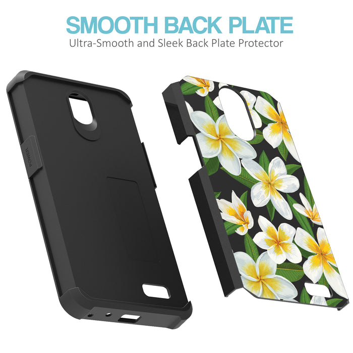ZTE Prestige Case [Slim Shield][White Hawaiian Flowers]