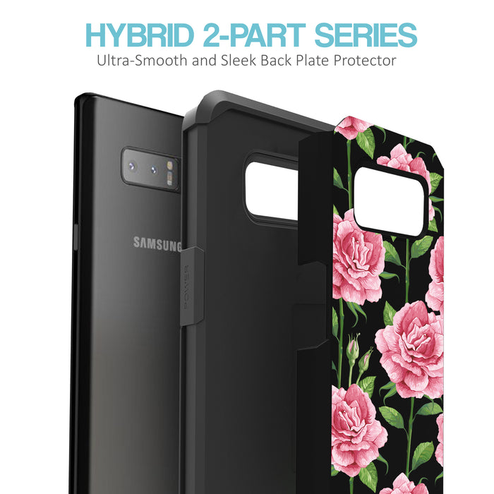 Samsung Galaxy Note 8 Case [Slim Shield][Pink Vine Flower]