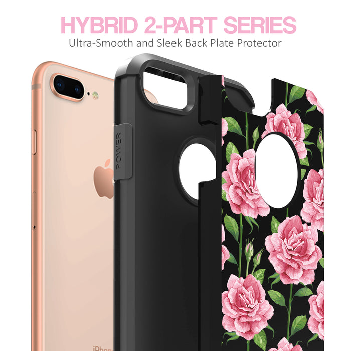 Apple iPhone 8 Plus Case [Slim Shield][Pink Vine Flower]