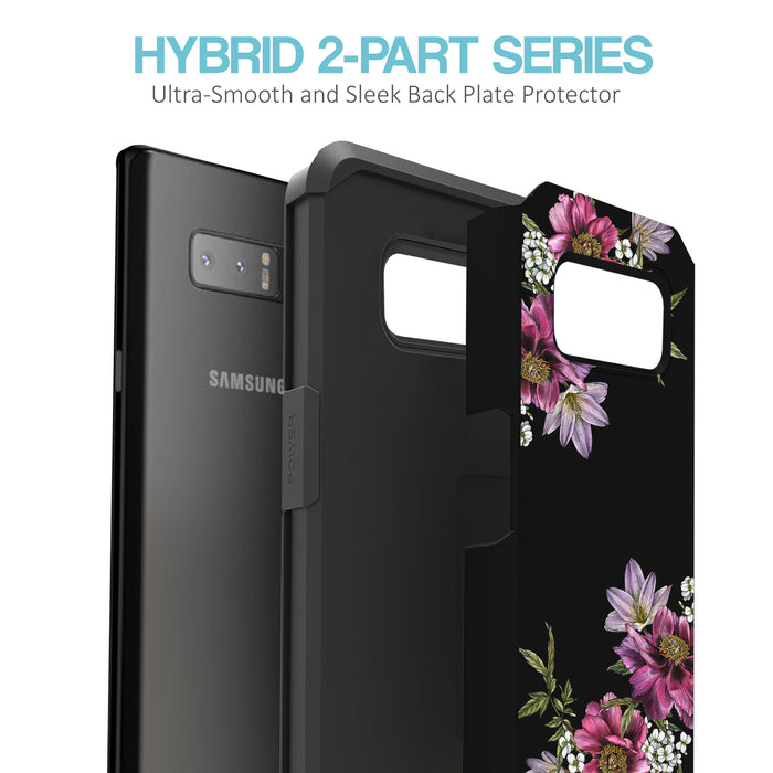 Samsung Galaxy Note 8 Case [Slim Shield][Purple Flower]