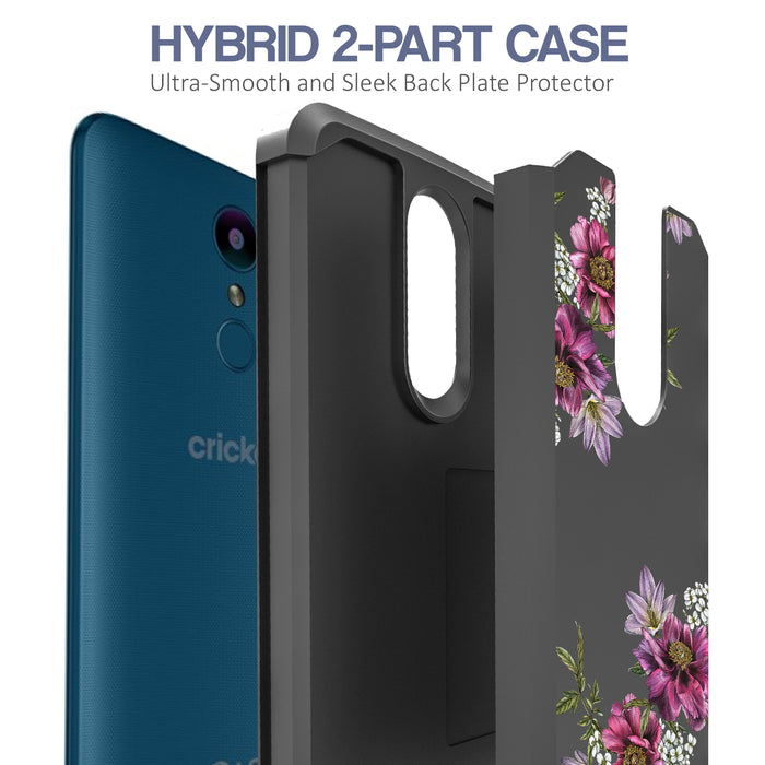 LG Aristo Case [Slim Shield][Purple Flower]