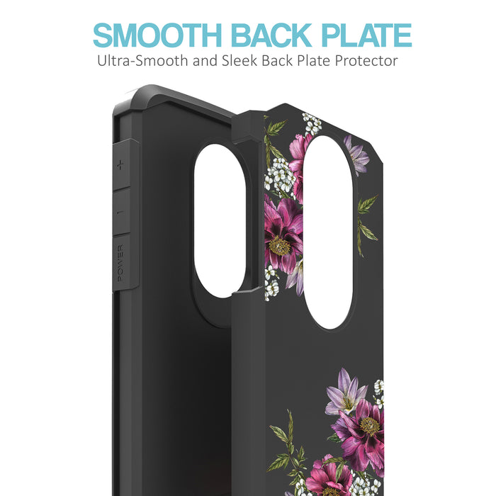 Motorola Moto E5 Plus  Case [Slim Shield][Purple Flower]