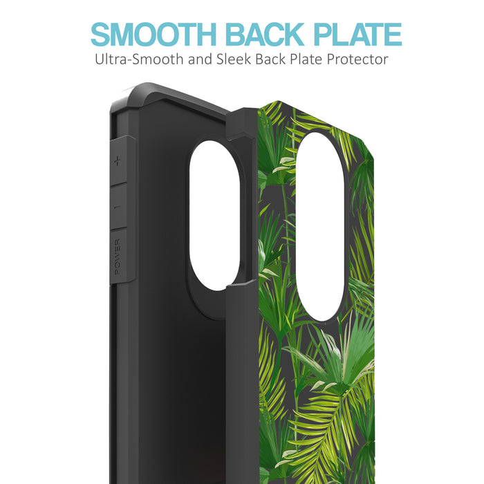 Motorola Moto E5 Cruise  Case [Slim Shield][Green Leaves]