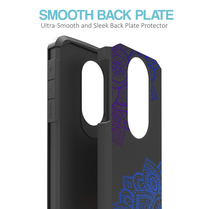 Motorola Moto E5 Cruise  Case [Slim Shield][Blue Mandala]