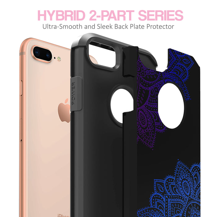 Apple iPhone 8 Plus Case [Slim Shield][Blue Mandala]