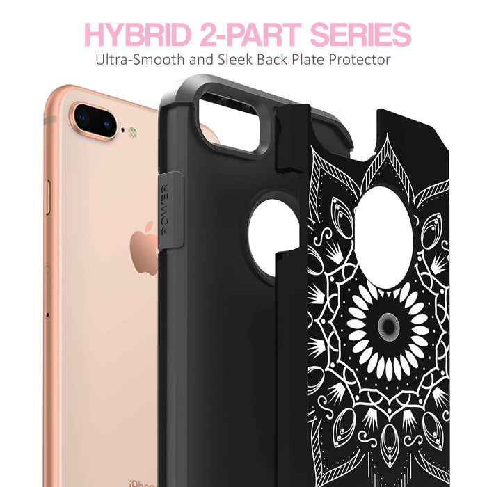 Apple iPhone 7 Plus Case [Slim Shield][Black Mandala]