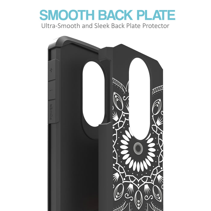 Motorola Moto E5 Plus  Case [Slim Shield][Black Mandala]