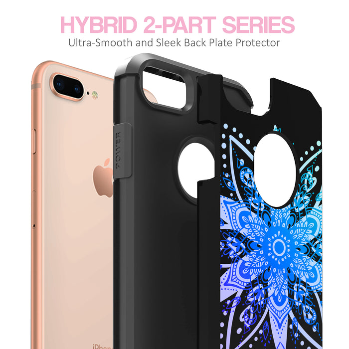 Apple iPhone 8 Plus Case [Slim Shield][Heart Mandala]