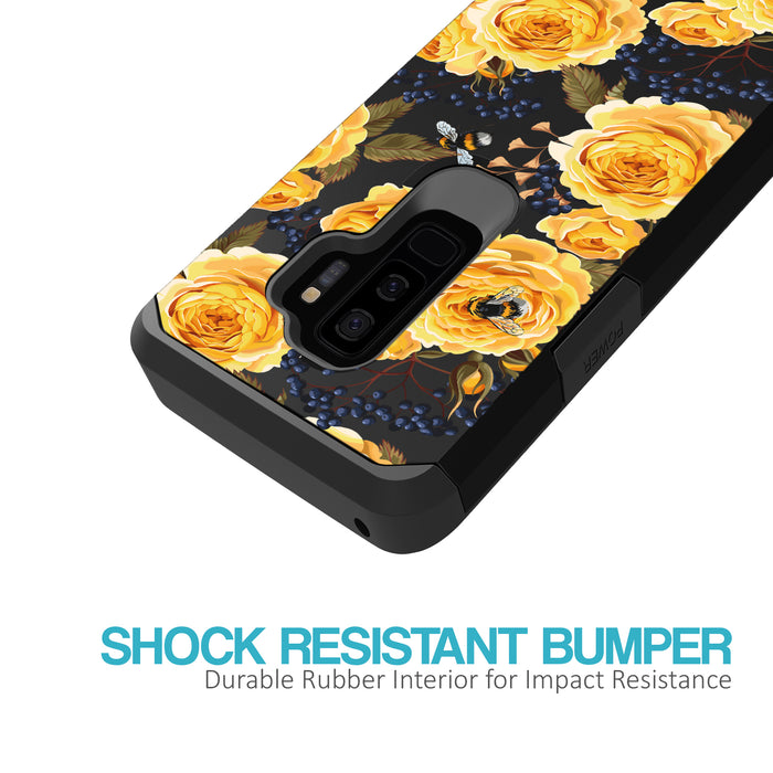 Samsung Galaxy S9 Plus Case [Slim Shield][Bumble Bee Roses]