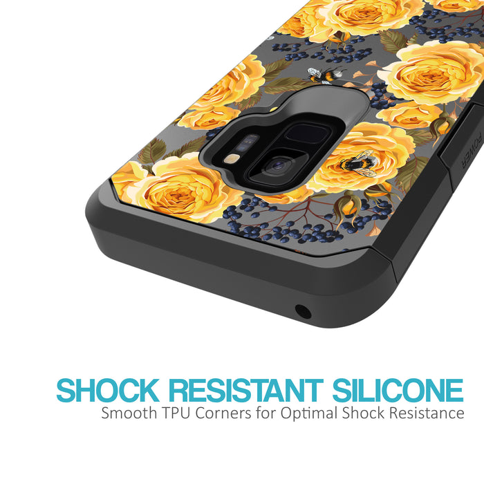 Samsung Galaxy S9 Case [Slim Shield][Bumble Bee Roses]