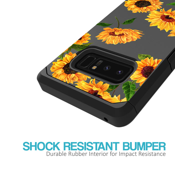 Samsung Galaxy Note 8 Case [Slim Shield][Sunflower]