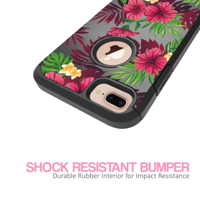 Apple iPhone 8 Plus Case [Slim Shield][Tropical Night]