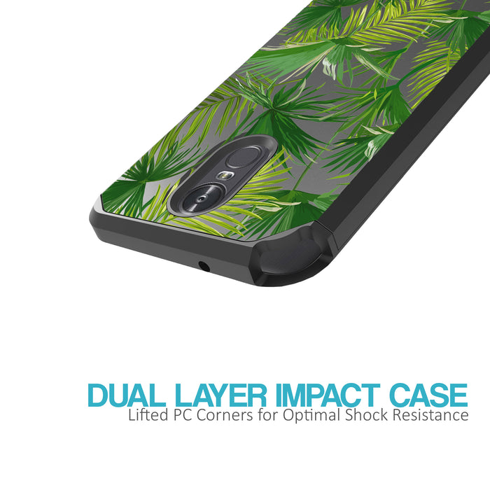LG Stylo 3 Case [Slim Shield][Green Leaves]