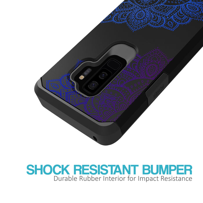 Samsung Galaxy S9 Plus Case [Slim Shield][Blue Mandala]
