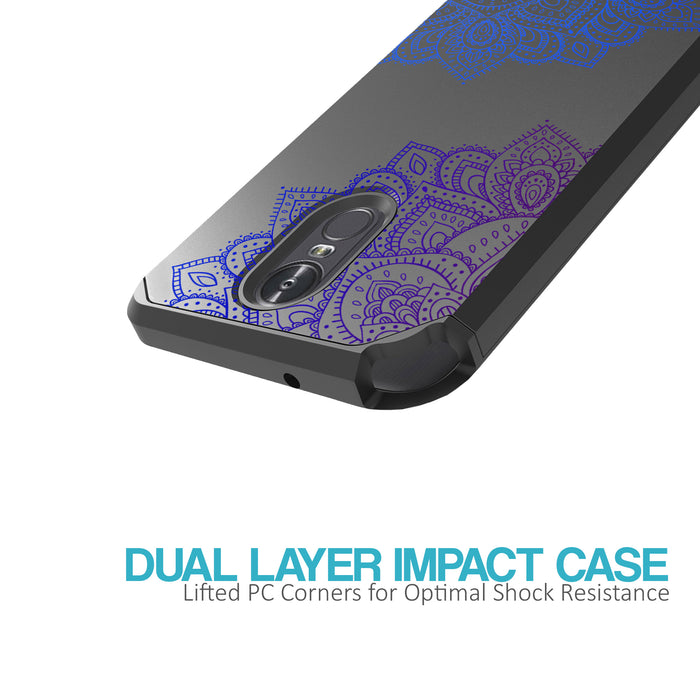 LG Stylo 3 Case [Slim Shield][Blue Mandala]