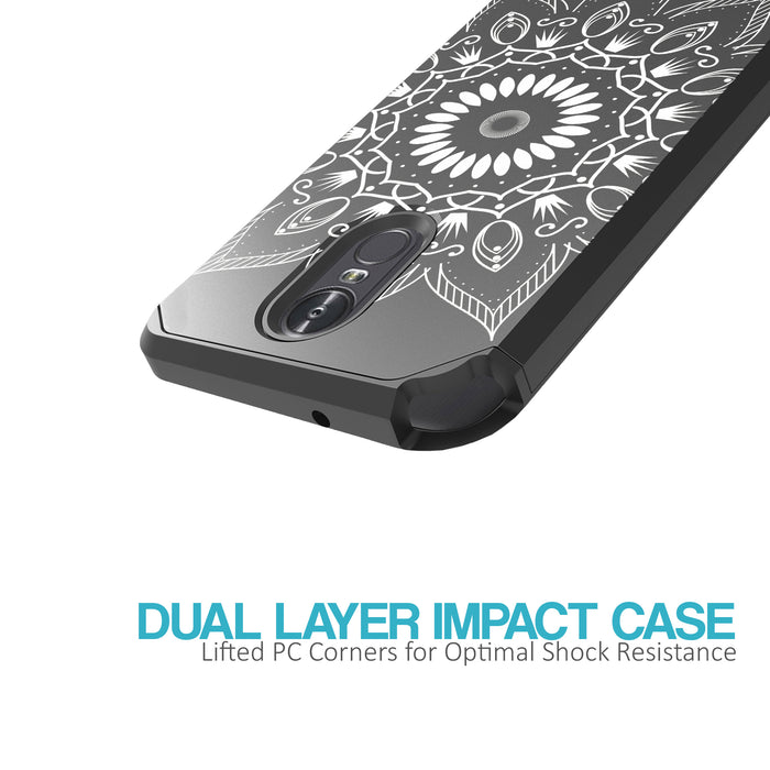 LG Stylo 3 Case [Slim Shield][Black Mandala]