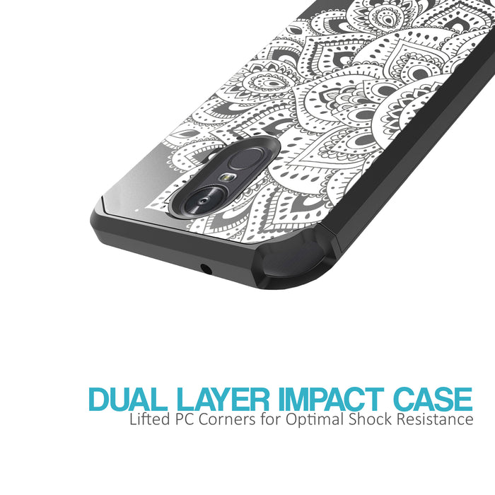 LG Stylo 3 Case [Slim Shield][White Mandalas]