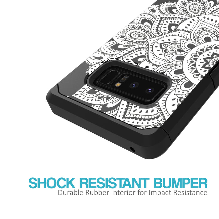 Samsung Galaxy Note 8 Case [Slim Shield][White Mandalas]