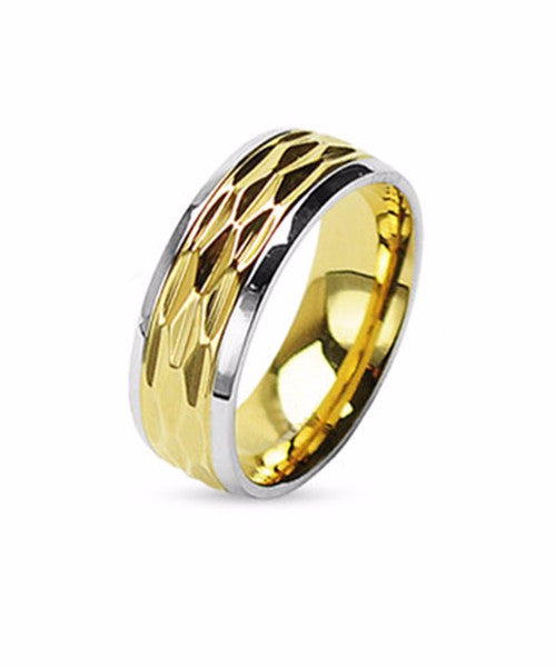 The Wave Ring in Gold