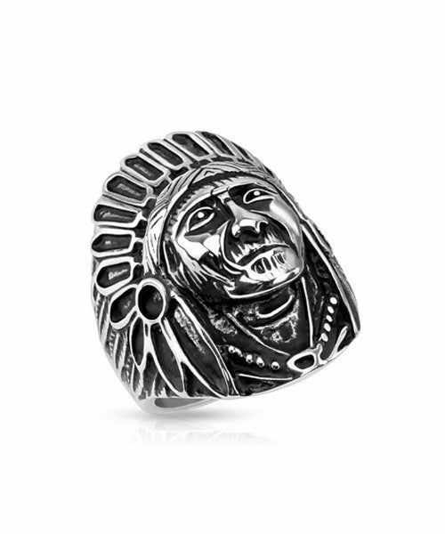 The Indian Chief Ring in Silver