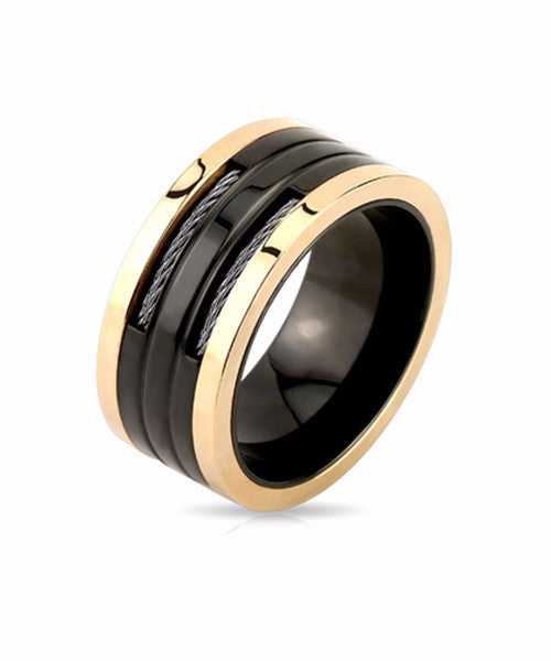 The Coil Ring in Black