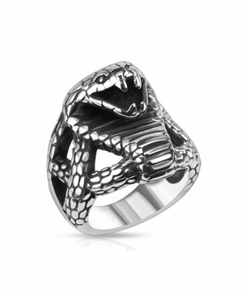 The Viper Ring in Silver