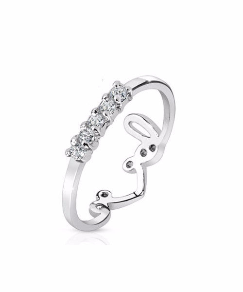 The Love Stud Midi-Ring in Silver
