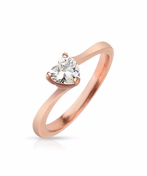 The Heart Ring in Rose Gold