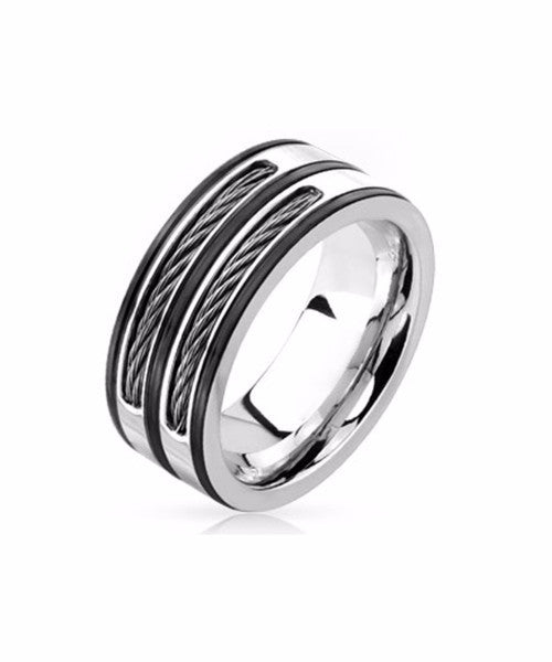 The Cable Ring in Silver