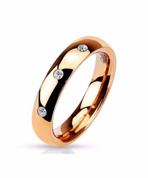 The Trinity Ring in Rose Gold