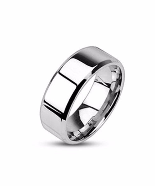The Steel Band Ring in Silver