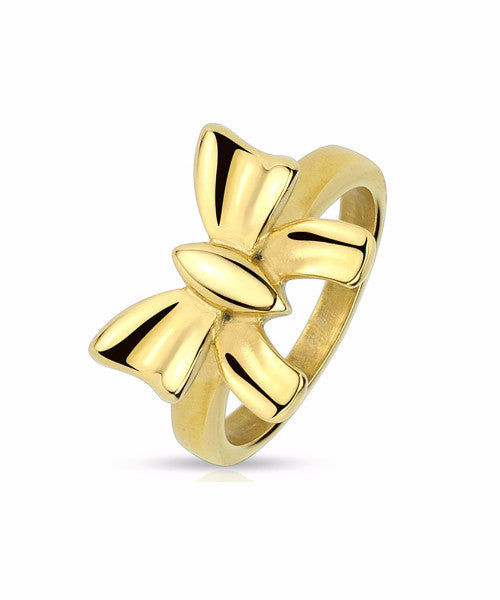 The Ribbon Ring in Gold