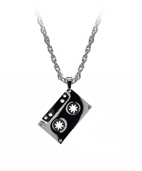 The Cassette Necklace in Silver