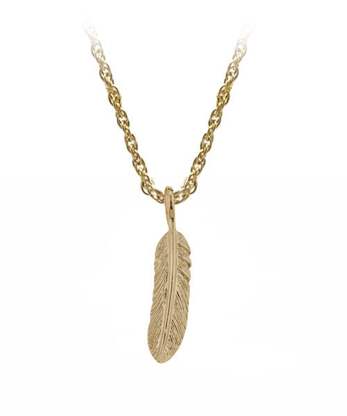 The Feather Necklace in Gold